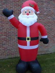 large inflatable father christmas santa decoration 240cm 8ft 8 led