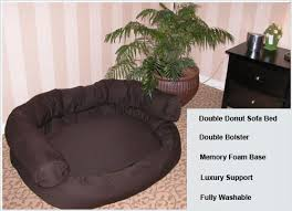 double bolster donut dog bed couch