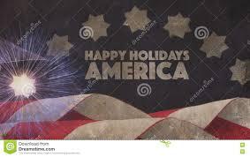 happy holidays america flag stock illustration illustration of