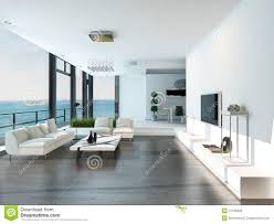 Luxury Livingrooms by Luxury Living Room Interior With White Couch And Seascape View