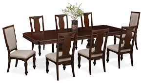 vienna dining table 6 side chairs and 2 upholstered side chairs