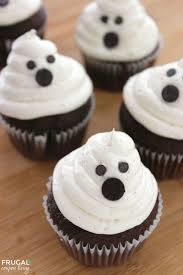 halloween ghost cupcakes with homemade marshmallow frosting