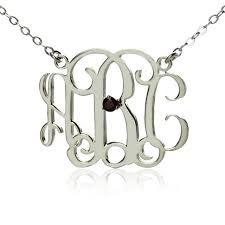 monogram initials necklace aliexpress buy free shipping personalized sterling silver