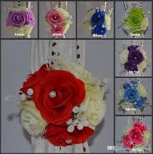 wedding backdrop accessories artificial silk flowers background gauze curtain clip