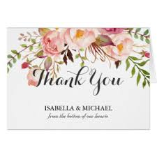 floral thank you note cards zazzle