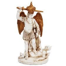 archangel st michael slaying the devil statue christian art statue