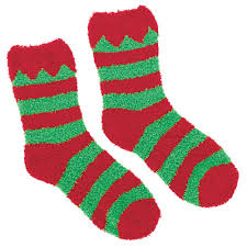 fuzzy christmas socks amscan and green christmas fuzzy socks 2 count 4 pack