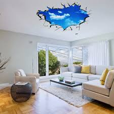 pag blue sky 3d wall decals sticker ceiling hole sticker home pag blue sky 3d wall decals sticker ceiling hole sticker home bedroom wall decor gift