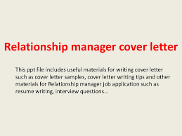 awesome collection of cover letter for relationship manager job