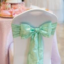 mint chair sashes chair sashes
