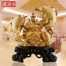 gold plating more than rich fish ornaments resin crafts gifts