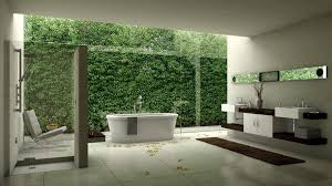 Bathroom Glass Shower Ideas by Rustic Outdoor Bathroom Glass Shower Corner In The Near Bathtub