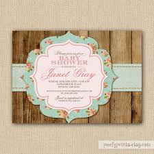 baby shower invitation cards shabby chic baby shower invitations