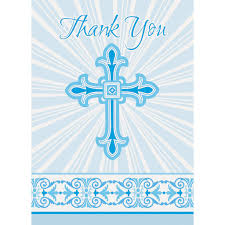 religious thank you cards radiant blue cross religious thank you cards communion and