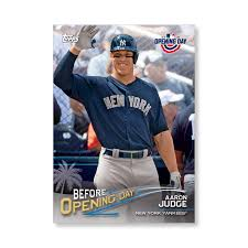 18 Best Aaron Judge Collectibles Images On Pinterest New York - aaron judge 2018 topps opening day baseball before opening day