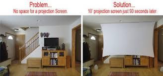 projection screens amazon com amazon com 120 u201d inch portable spandex projector screen complete