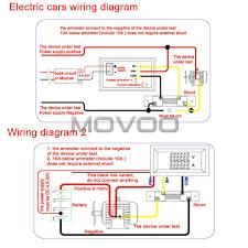 2in1 volt amp meter dc 0 100v 100a blue red led digital display