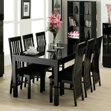 Classic Black Wooden Small Oval Dining Table With Foam Padded Ikea - Black dining table with wood top