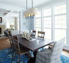 inspired trestle dining table in dining room beach style with