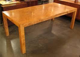 burl wood dining room table milo baughman burlwood parsons dining table white trash nyc