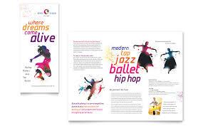 dance flyer template word dance studio brochure template word
