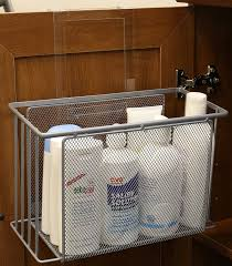 Under Sink Kitchen Cabinet Amazon Com Decobros Over Cabinet Door Organizer Holder Silver