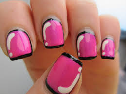 pink nail art design ideas katty nails katty nails