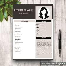 clean resume template with photo cover letter u2013 u201ckathleen chandler u201d