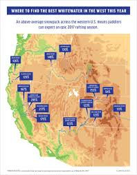Colorado Snowpack Map Where To Find The Best Rafting In The West 2017 Edition