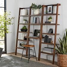 mainstays sumpter park ladder bookcase desk walmart com