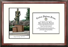 of michigan diploma frame michigan state spartans college graduation diploma