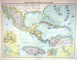 Old Mexico Map by Old Print Antique And Victorian Art Prints Paintings World Maps