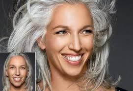 coupe pour cheveux gris cheveux gris femme
