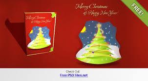 christmas card psd template by chocotemplates on deviantart