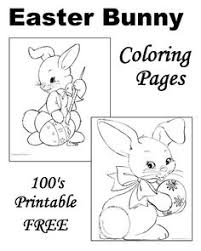 check easter bunny coloring elementary students
