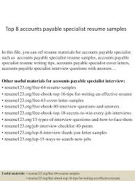 Cover Letter Accounts Payable Top8accountspayablespecialistresumesamples 150402095509 Conversion Gate01 Thumbnail 4 Jpg Cb U003d1427986553