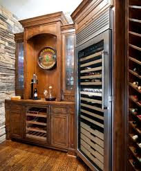 Kitchen Wine Cabinet Sub Zero Wine Cooler Kitchen Traditional With Ceiling Lighting
