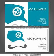 Telephone Icon For Business Card Eps Vectors Of Business Card For Repair Plumbing Vector