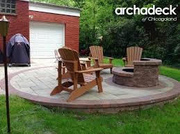 Belgard Fire Pit by Belgard Fire Pit And Patio By Chicago Area Patio Builder Archadeck
