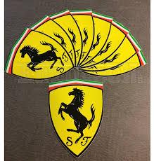 ferrari emblem ferrari logo badge flat