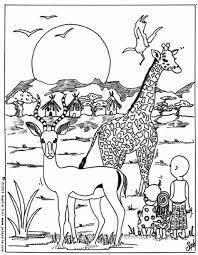 Coloriage Animaux Afrique dessin gratuit à imprimer