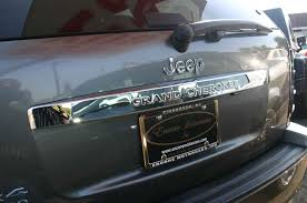 jeep grand cherokee lifted jeep grand cherokee chrome rear lift tail gate handle cover trim