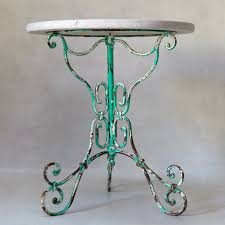 Repainting Wrought Iron Furniture by Painted Wrought Iron And Marble Gueridon Table France Circa