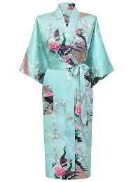 honoursport kimono japonais en satin robe de chambre 1 2