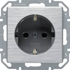 steckdosen design hager wys206a1 steckdose schuko aluminium exclusiv design alu