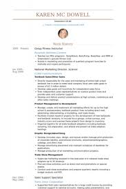 Online Instructor Resume by Group Fitness Instructor Resume U2013 Resume Examples
