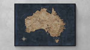 Map Middle Earth You Can Own This Fantasy Map Combining Australia And Middle Earth