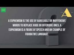 what is euphemism in figure of speech youtube