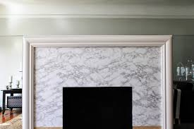 contact paper cup half full fireplace makeover