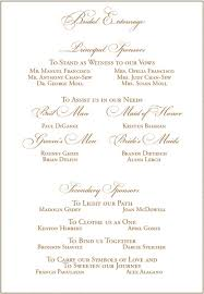 wedding program exles wording wedding program wording exles printable